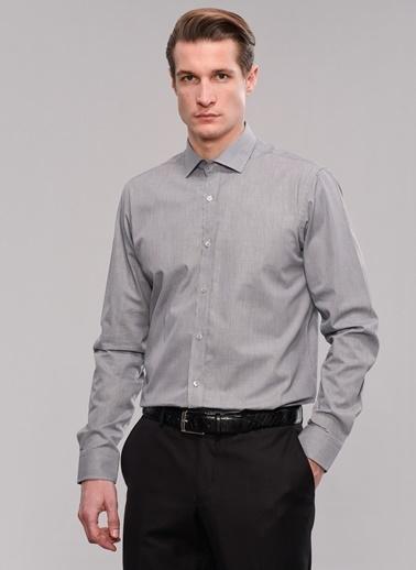 People By Fabrika Mikro Desen Gömlek Beyaz
